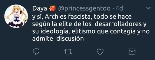 y sí, Arch es facista, todo se hace según la élite de los desarrolladores y su ideología, elitismo que contagia y no admite discusión
